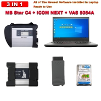 3 in 1 MB Star SD Connect C4 + BMW ICOM NEXT + VAS 5054A With Lenovo T430 Laptop and 1TB HDD/SSD Mercedes BMW Audi VW ODIS Software Complete Set Ready to Use