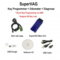 SuperVAG Key Programmer + Odometer + Diagnose Interface Super VAG Key Programmer For VAG Key programming Via OBD Support All Key Lost