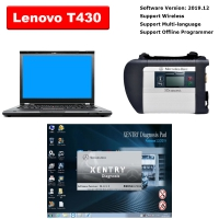 Super MB Star SD Connect C4 Multiplexer Mercedes With Lenovo T430 4G I5 Laptop installed V2019.12 MB Star SD C4 Software