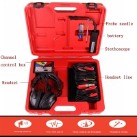 6 Channel Automotive Combination Electronic Stethoscope Kit Car Diagnostic Engine Noise Scope Tool With 6 Channel Sensor