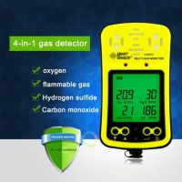Smart Sensor AS8900 Multi Gas Monitor 4 in 1 Handheld Gas Detector AS8900 Gas Analyzer