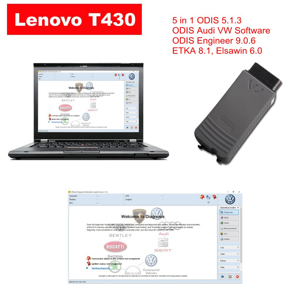 Audi VW ODIS Interface VAS 5054a With Lenovo T430 Laptop