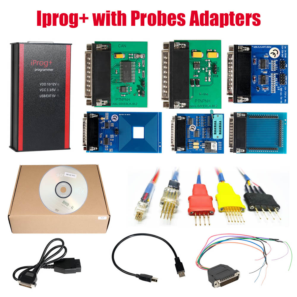 V82 Iprog+ Pro Programmer with Probes Adapters